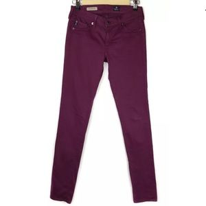 AG The Jegging Super Skinny Fit Raspberry Purple